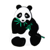 PVC White Panda Bear with Eucalyptus Leaves Fridge Magnet