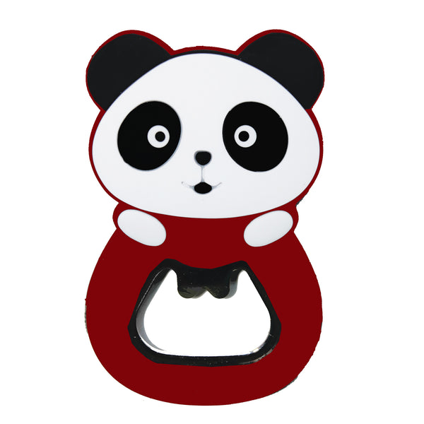 Panda Bear Red Magnetic PVC Beer Bottle Opener