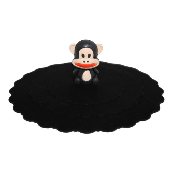 Brown Monkey Suction Cup Lid Mug Cover