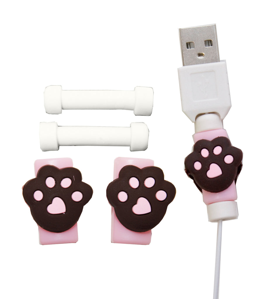 Bear Paws Mobile Phone Cable Protector Earphone Cover