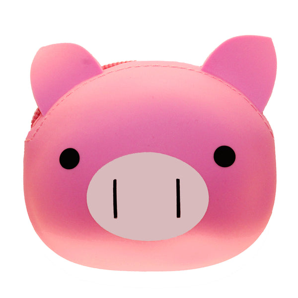 Pink Pig Animal Silicone Rubber Coin Purse