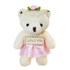 Pink Heart Plush Bear Valentine's Gift Box w/ Soap Flowers