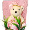 Special Graduation Bear Flower Design Pink Theme Bouquet