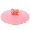 Pink Bow Polka Dots Suction Cup Lid Mug Cover