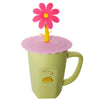 Pink Flower Suction Cup Lid Mug Cover