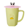 Pink Panda Bear Suction Cup Lid Mug Cover