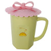 Pink Bow Ribbon Suction Cup Lid Mug Cover