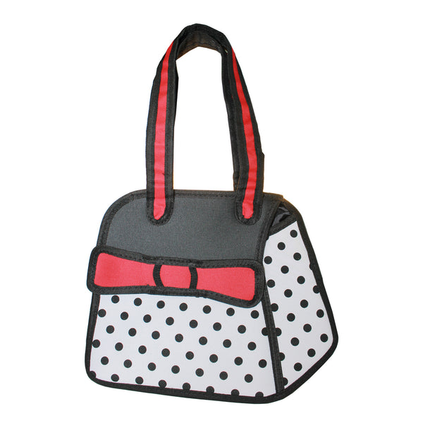 3D Travel Hand Bag Red Polka Dots Design