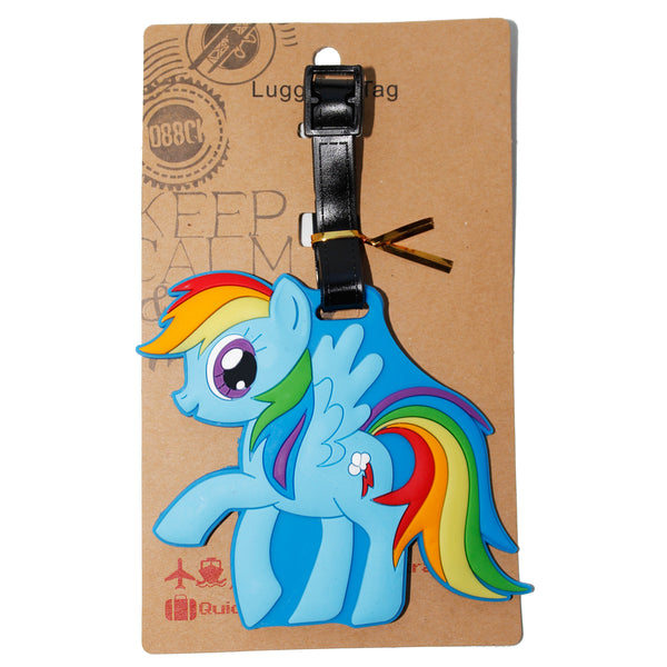 Blue Little Rainbow Pony Luggage Tag (Comes in packs of 12 - $2.50 each)