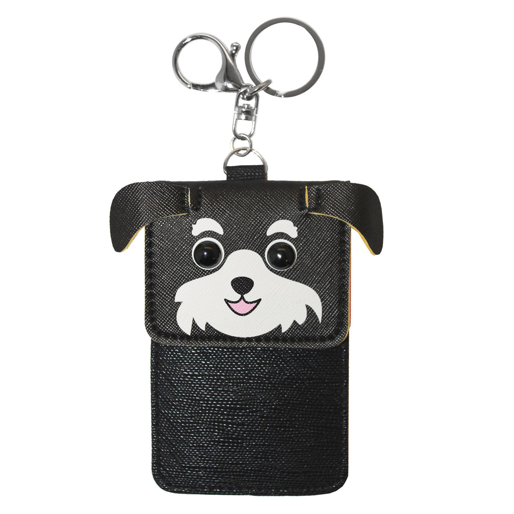 Black Puppy Dog Wallet Card Holder Accessory