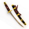 Japanese Samurai Single 12 Inch Sword Letter Opener Red