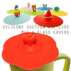 Red Heart Suction Cup Lid Mug Cover