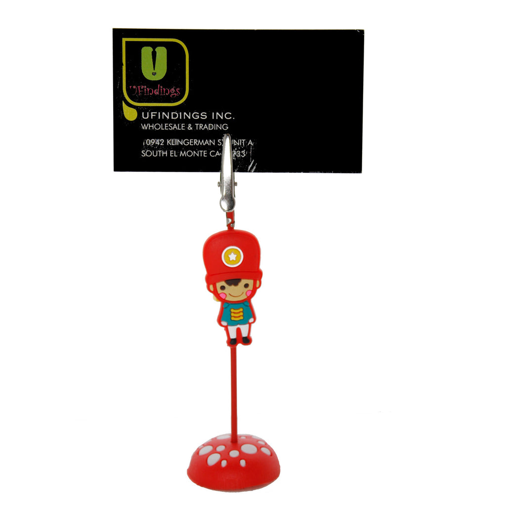 British Guard with Red Hat PVC Photo Holder Business Card Clip Hanger
