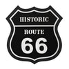 Historic Route 66 Black PVC Coaster