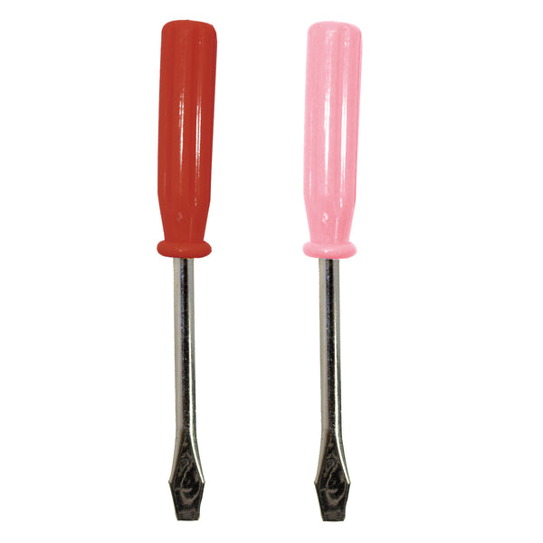 2 Pcs Screwdriver Red & Pink Tool Pen