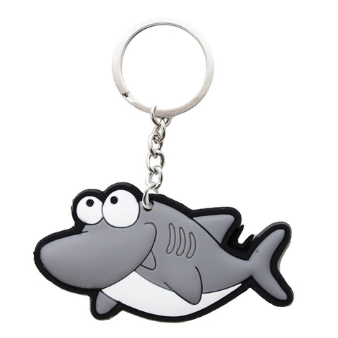 Gray Shark PVC Key Chain