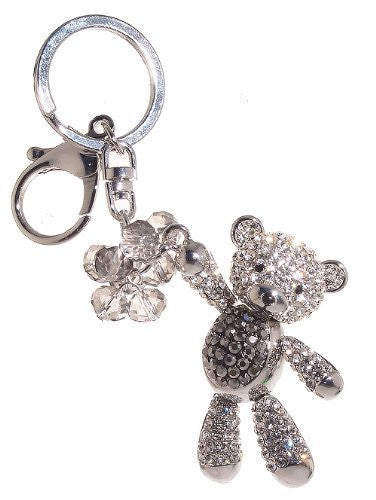 Teddy Bear with Balloons Rhinestone Key Chain