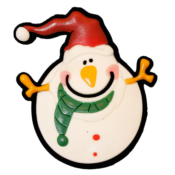 Snowman with Christmas Hat Fridge Magnet