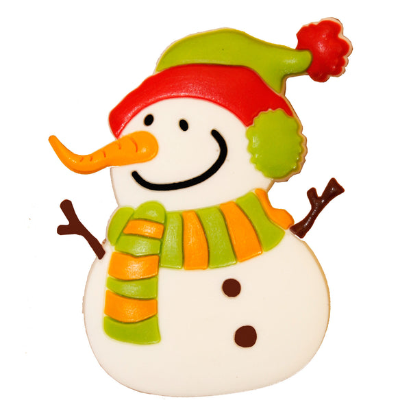 Snowman with Carrot Nose Fridge Magnet