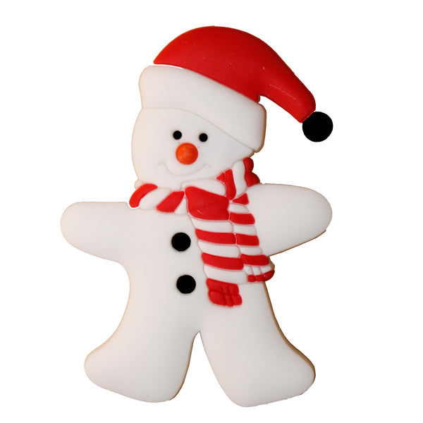 Snowman with Scarf Fridge Magnet