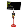 British Soldier Guard with Moustache PVC Photo Holder Business Card Clip Hanger