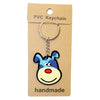 Blue Spotted Dog PVC Key Chain