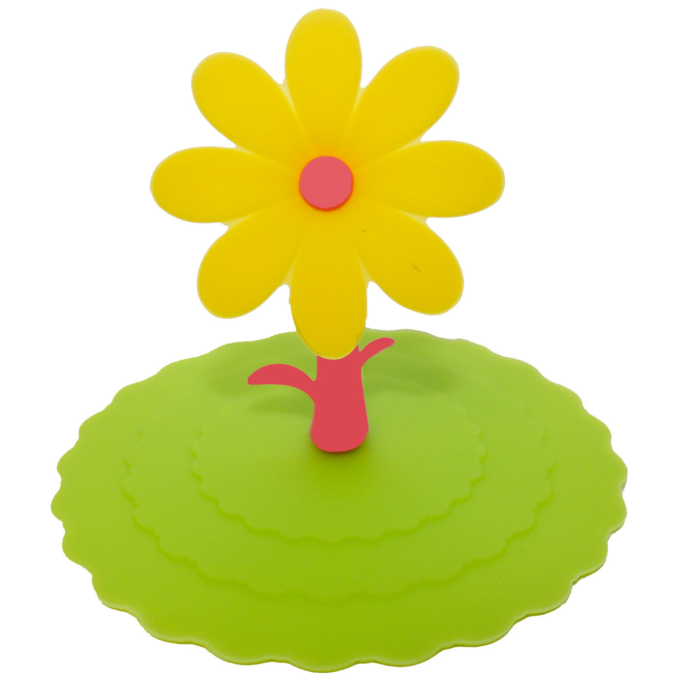 Yellow Flower Suction Cup Lid Mug Cover Ufindings Inc