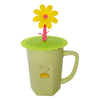 Yellow Flower Suction Cup Lid Mug Cover