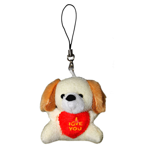 I Love You Dog Plush String Hanger Plush Key Chain