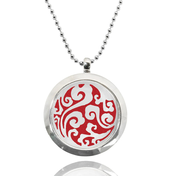 Wave Stainless Steel Locket Essential Oil Necklace