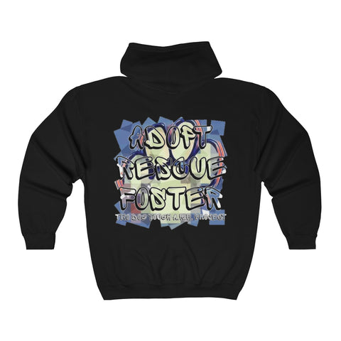 A.R.F. Project Stack Graffiti Style with Blocks Unisex Heavy Blend™ Full Zip Hooded Sweatshirt