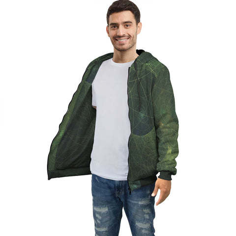 Green Celestial Wonder Men's Sublimation Hoodie