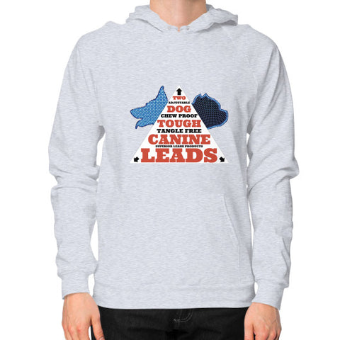 Hoodie (on man) Heather grey TWO DOG TOUGH LLC