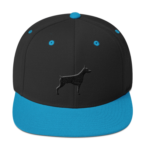 (DOBERMAN) Classic Dog Breed Silhouette Snapback Hats