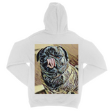Two Dog Tough™ Pug Kiss Fine Jersey Zip Hoodie