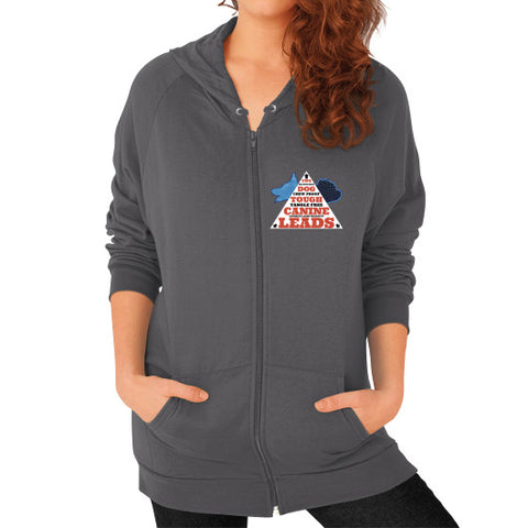 Zip Hoodie (on woman) Asphalt TWO DOG TOUGH LLC