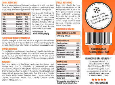 Beef & Lamb Recipe Dog Food (Case of 8)