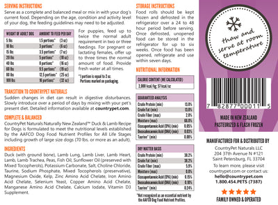 Duck & Lamb Recipe Dog Food (Case of 8)