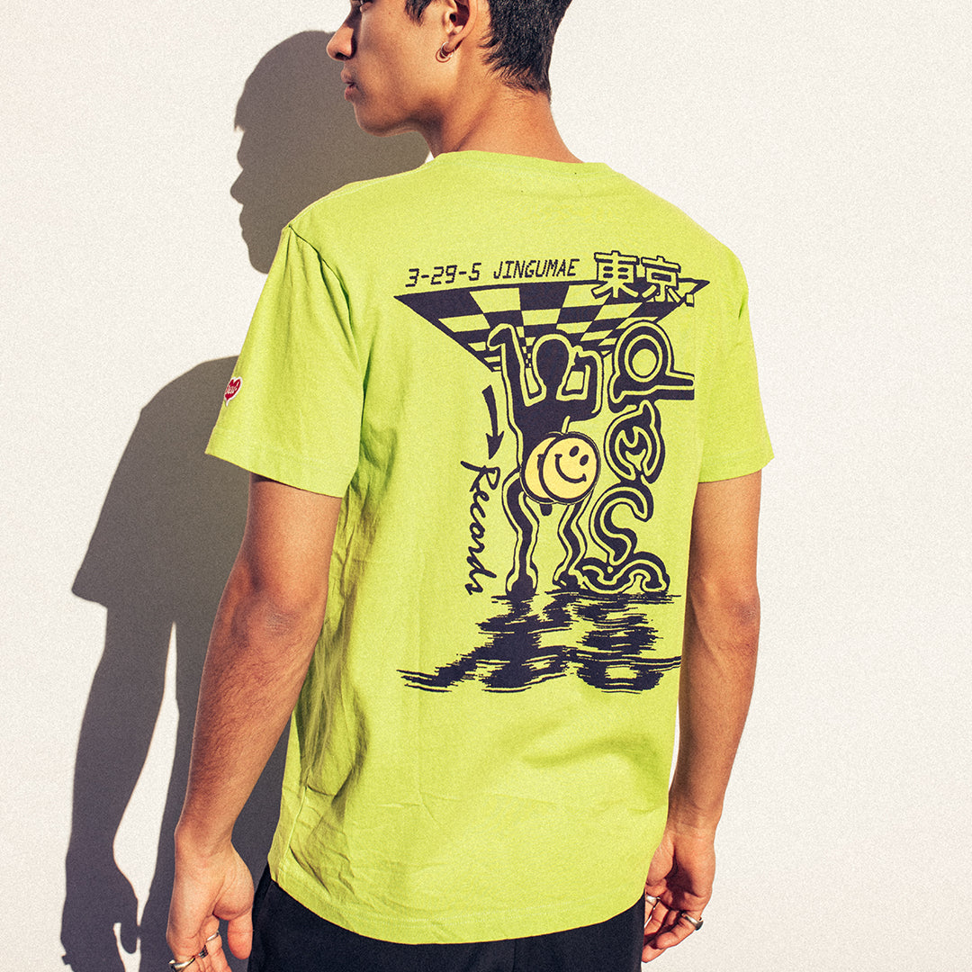 Bench Press Tee - Lime Punch