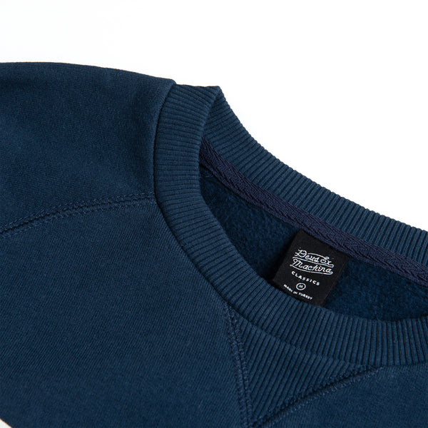 All Caps Crew Sweater - Navy