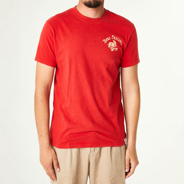 Paradise Frowned Tee - Red Molten