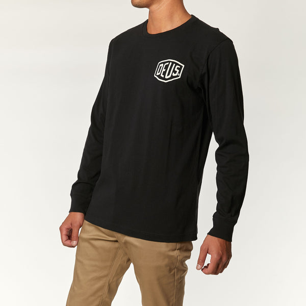 Venice Address Long Sleeve Tee - Black