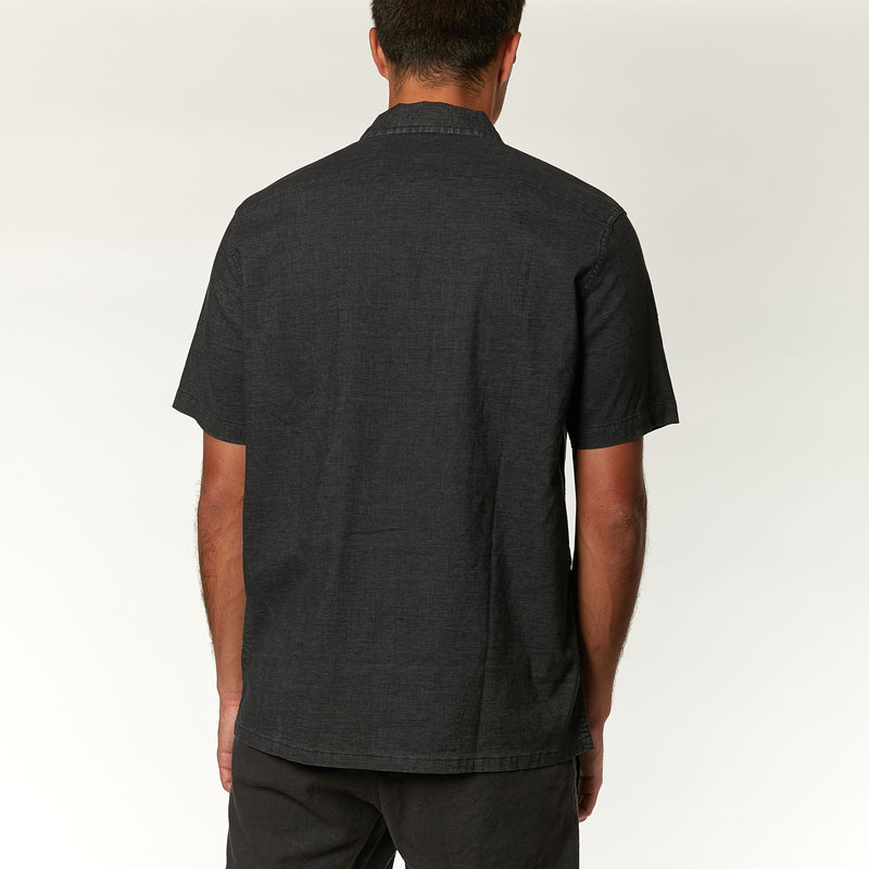 Oscar Hemp Shirt - Phantom Black