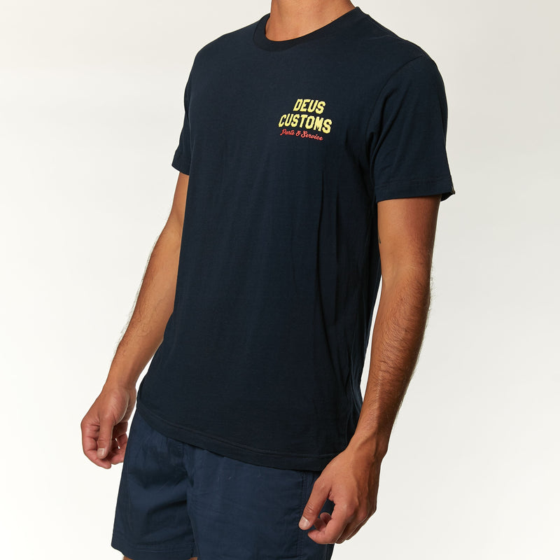 Bush Mechanics Tee - Midnight Blue