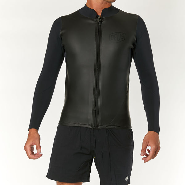 Canggu Long Sleeve Zip Wetsuit - Black