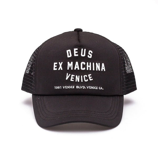 Venice Address Trucker Hat - Black