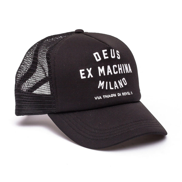 Milano Address Trucker Hat - Black