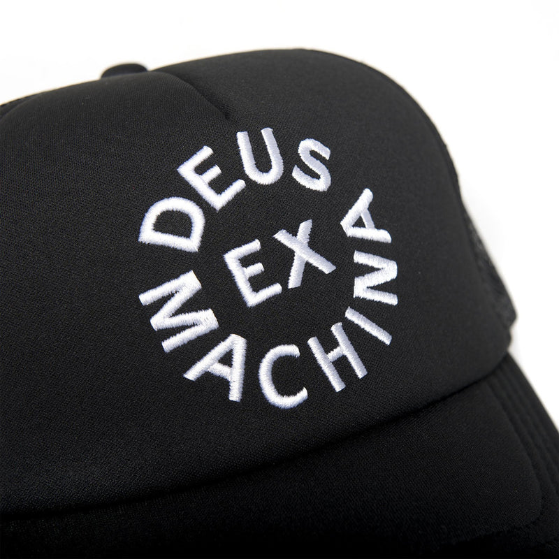 Circle Logo Trucker Hat - Black