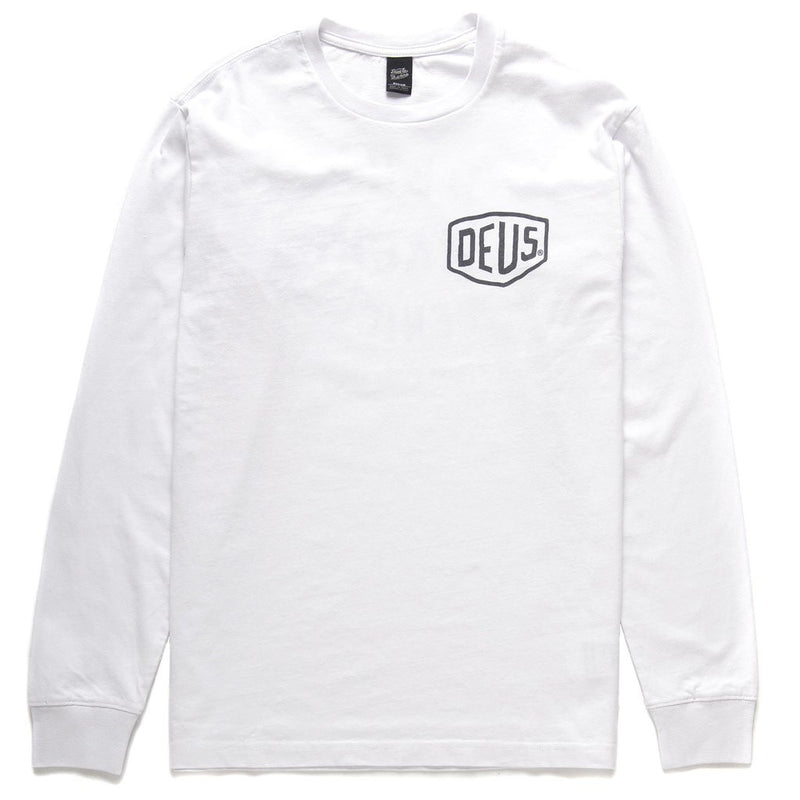 Venice Address Long Sleeve Tee - White