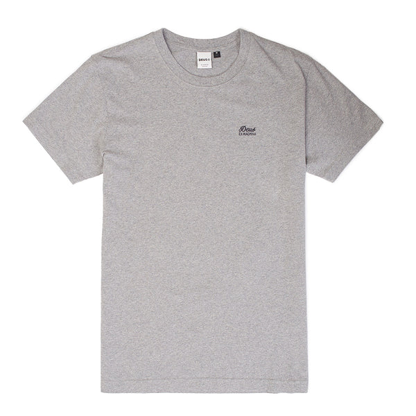 Standard Embroidered Tee - Grey Marle